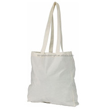 High quality white cotton blank shopping bag, blank cotton book bag, fashion white color cotton shopping tote bag