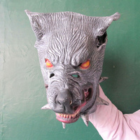 Latex Animal Head Halloween Horrible Wolf Mask