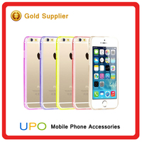 [UPO] Colourful bumper matte transparent back phone case for iphone 5, clear plastic cell phone case