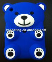 for ipad mini 3D cute bear silicone case cover