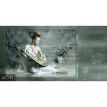Hand painted naked beautiful chinese girl nude painting