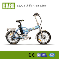 36v 250w motor 10ah lithium battery 2 wheel folding electric bike with color LED Dispaly