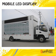 Mobile truck led display/truck/trailer moving led advertising signs P10mm led screen board