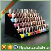 5 Tiers 55pcs Nail Polish Acrylic Display Rack,Black Colour