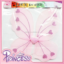 BT-5048 2015 Pink Heart Kids Performance Wings Dance Angel Wings Small Angel Wings For Crafts