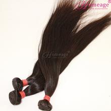 Homeage 100% human raw unprocesse virgin indian hair weaving