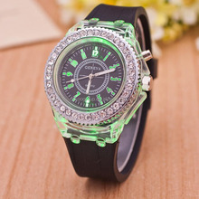 silicone led watch Hole sale silicone rubber led watch sport wrist watch