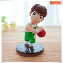 PVC figures with base basketball boy,custom PVC anime figures toys,custom plastic anime figures Shenzhen manufacturer