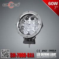 E13 Approval 7 inch 60W CREE LED Driving Light, E-mark Approval LED WORK LIGHT, Compact Aluminum Light _SM-7600