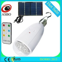 Solar Power Bulb Dream Color 5050 RGB Light LED Recharge