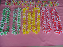2015 Hot Products Wholesale Plastic Hawaii flower Lei