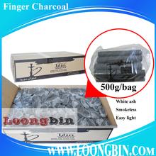 Great and cheap cylindrical stick shisha coal for sale, 18kg bulk packing