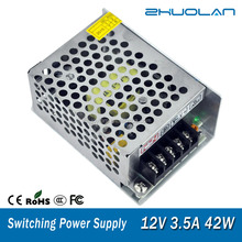 power supply for dc motor with low ripple ac 110v to dc 12v 3.5a 42w