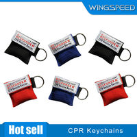 CPR Mask Keychain Emergency Face Shield First Aid Rescue bag kits