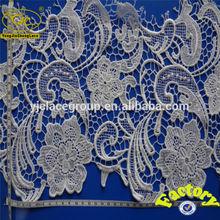 yjc18030 africano projetos do bordado de flores do laço de tecido para o vestido de noiva