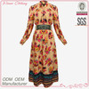 hot sell new design ankle length beautiful print lady dress cotton design clothing factories in china