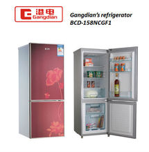 110V/220V Double glass door home refrigerator /freezer mini fridge