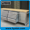 96'' garage work bench 96 inch tool chest with wooden top