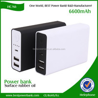 HC-N6 dual usb mobile battery charger smart phone power bank