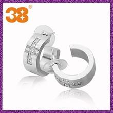 ear cuff+stainless steel earrings+charms