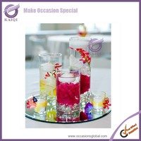 K5877 Cheap fancy clear glass wine bottle tealight candle holder