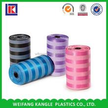LDPE cheap biodegradable vest carrier doggie shaped pet plastic bags