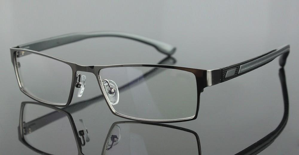 Eyeglass Frames With Long Temples : Stainless steel mens full rim eyeglasses frame long ...