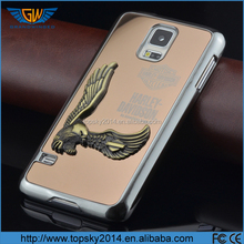 USA Eagle Hard Mirror Face Silver Chrome Aluminum Case Cell Phone Protector Cover for Samsung S5 S6 case