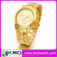 Full steel gold watches for men wholesale geneva watch china manufacturer