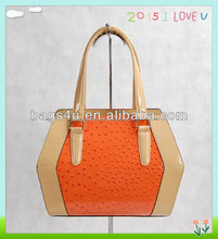 2015 new design pu leather ladies beautiful handbags
