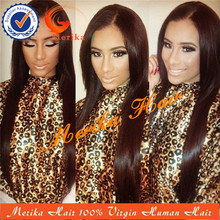 Premiun virgin Malaysian straight hair, long silky straight lace front wig