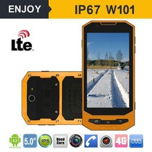mtk 6732 IP67 walkie talkie rugged 4g lte android 4.4 outdoor mobile phone with RFID
