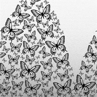 girl wearing butterfly dress the black and white image style New arrival home textile fabric