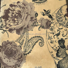 flower type bronzing velvet sofa fabric