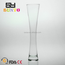 Ice-crackle Long Straight Cylinder Glass Vases