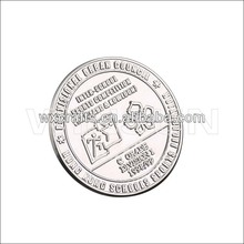 2015 custom engraved logo metal anniversary souvenir coin