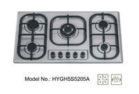 5 BURNER STAINLESS STEEL GAS HOBS