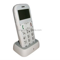 big button keypad elderly gps tracker cell phone with cradle charger
