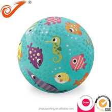 small soft rubber ball fish pattern high Bouncing rubber foam ball