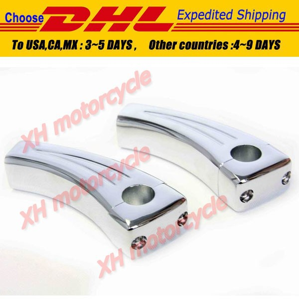 Motorcycle accessories Chrome Handlebar Risers For Suzuki Boulevard Intruder Volusia M109R C50 M90 S40