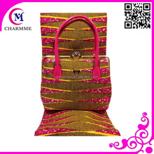 Printed Design WB-006 Wax Fabric Bag 100% Cotton African Fabric Real Wax African wax Matching bags for party /wedding Dress
