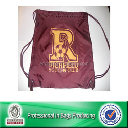 Lead Free Sublimation Cinch Up Soccer Sling Bags