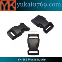 Yukai quick release colored plastic webbing buckle/plastic luggage strap buckle