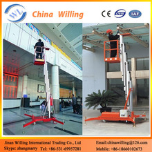 Single person hydraulic lift for home use