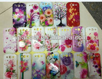 3D Rain/Water Drop Flower Solid Color hard case for Samsung Galaxy S3 S III 3 i9300