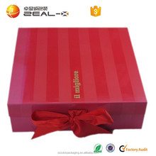 Easy Transportation Accept OME Good Quality Folding Socks Boxes with Ribbon