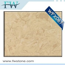 Factory manufacture low price high strength crema nuova beige artificial marble