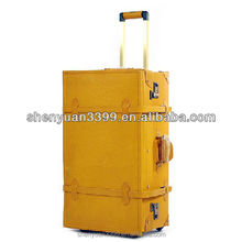 vintage and retro leather trolley luggage / suitcase/case/ draw-bar box/carrier