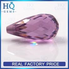Wholesale Faceted Drop Rose Zircon CZ Gems