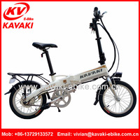 "Foldable 16"" Electric Bike with 250W Brushless Motor 36V8Ah Lithium Battery Two Seat White Motorcycle OEM Folding E-Bicycle"